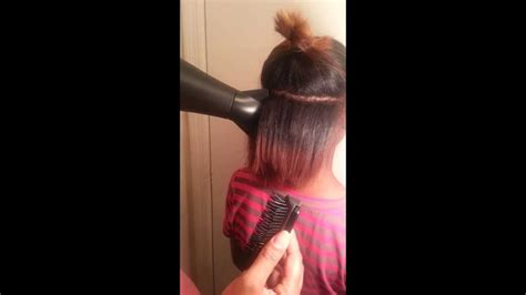 Speaking tutorial on how to blow dry and silk press