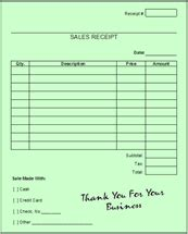 Blank Credit Card Receipt Template Printable Blank Sales Receipts Quotes