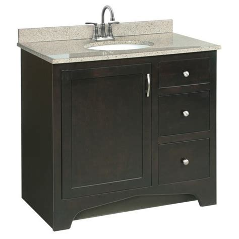 design this home delivery vanity design house 541284 ventura espresso vanity cabinet with 1 door and 2 drawers 36 inches by 33 5