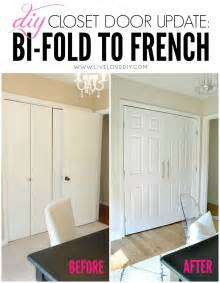 Diy Closet Door Ideas Livelovediy Our 1970 S House Makeover Part 9 The Office Makeover