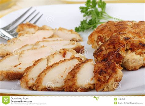 breaded chicken breast royalty free stock photo image 20524745