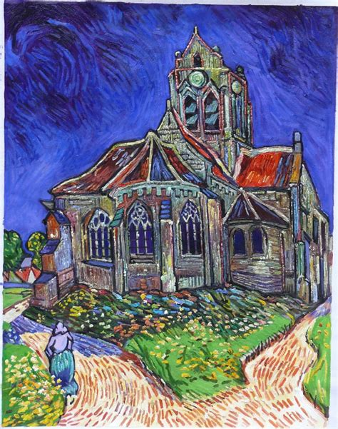 The Of Painting the church at auvers gogh reproduction gogh studio