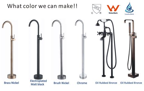 Low Pressure Thermostatic Bath Shower Mixer electroplated matte black bathroom faucets free standing