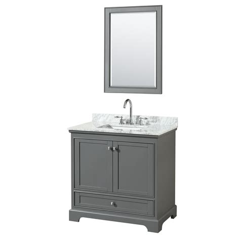 dark grey bathroom vanity 36 inch transitional dark grey finish bathroom vanity set