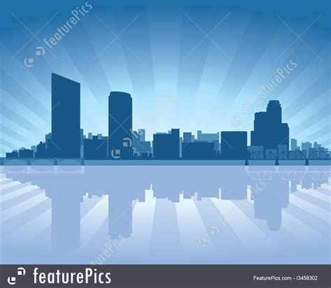 Grand Rapids Skyline Outline by Cityscapes Grand Rapids Michigan Skyline Stock Illustration I3458302 At Featurepics