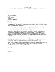 Resignation Briefprobe an asserting resignation letter which appreciates the of colleagues and employer in overall