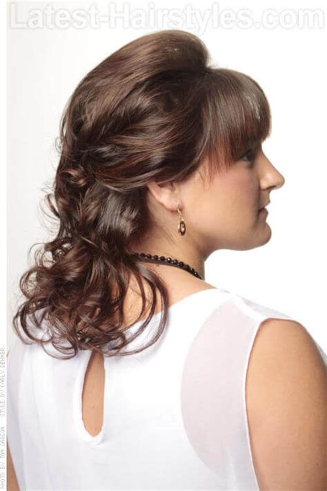 fringe clipped back hairstyles 28 popular medium length hairstyles with bangs updated