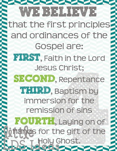 printable articles of faith free printable 3x4 articles of faith cards to laminate and
