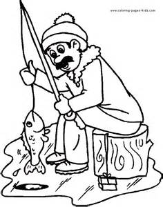 ice fishing color page sports coloring pages plate sketch template