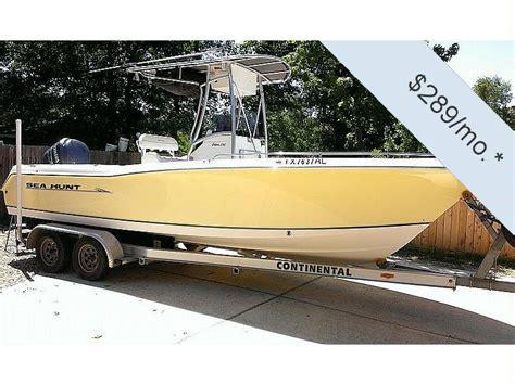 sea hunt boats accessories sea hunt 232 triton in florida power boats used 75353