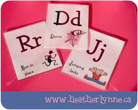 printable alphabet movement cards alphabet movement cards