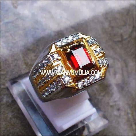 Batu Garnet Memo batu cincin permata garnet kode 133 wahyu mulia