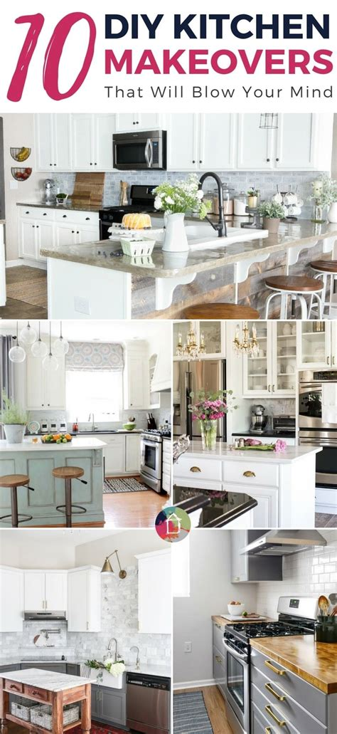 10 diy kitchen makeovers that will your mind