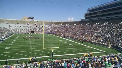 notre dame stadium visitor section notre dame stadium section 19 rateyourseats com