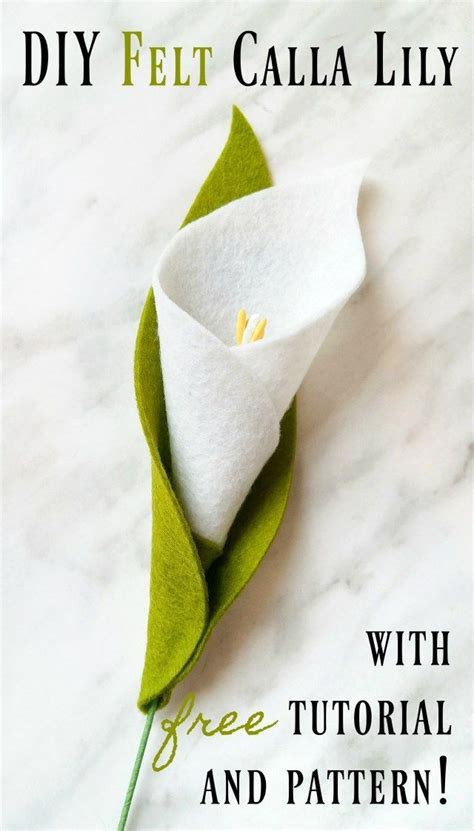 Felt Lily Pattern | diy felt calla lily tutorial and free pattern felt