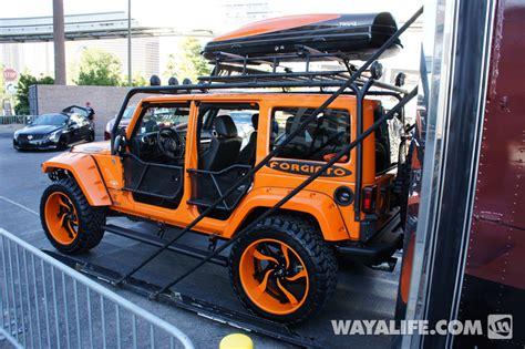 jeep wrangler 4 door orange 2012 sema forgiato orange 4 door jeep jk wrangler