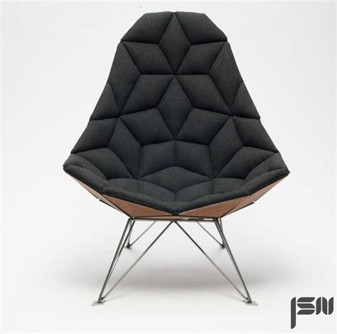 design armchair jsn design assembles diamond shaped tiles into chair