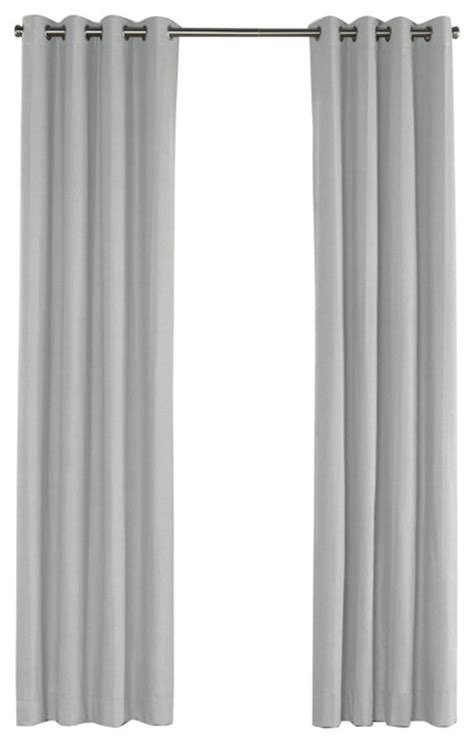 light gray curtain panels light cool gray linen grommet curtain contemporary