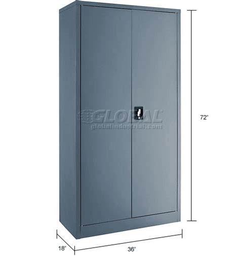 Janitorial Storage Cabinet Cabinets Janitorial Paramount Janitorial Cabinet Easy Assembly 36x18x72 Gray 269902gy