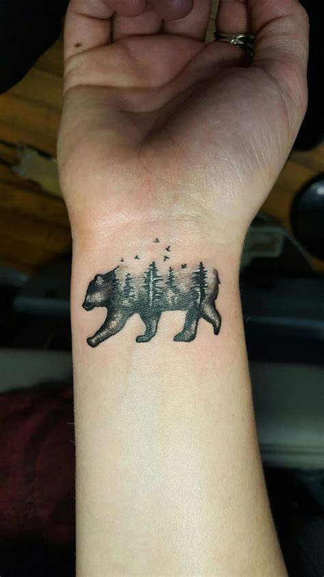 small bear tattoo 1000 ideas about forest tattoos on forest