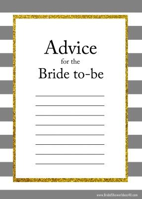 To Be Advice Cards Template by Free Printable Advice For The To Be Cards