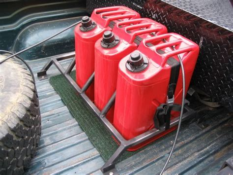 Truck Bed Gas Storage by Gas Can Mount Road Truck Gear Jeeps