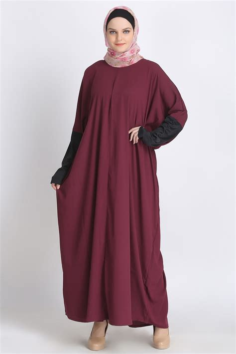 Wings Dress Dress Muslim Balotely Maxy purple batwings kaftan abaya dress branded islamic clothing