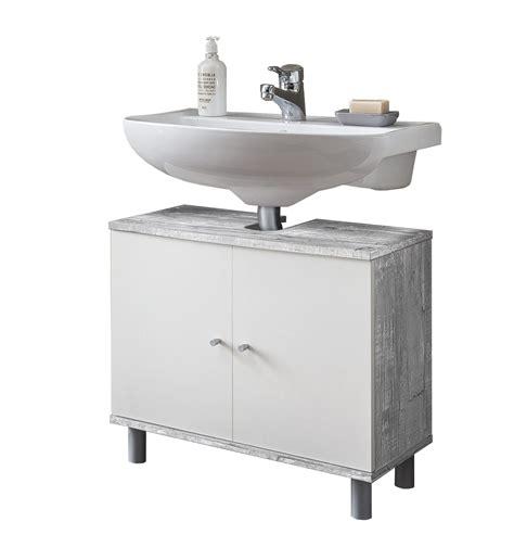 Badezimmer Waschbeckenunterschrank Grau by Bad Waschbeckenunterschrank Lindau 2 T 252 Rig 60 Cm Breit