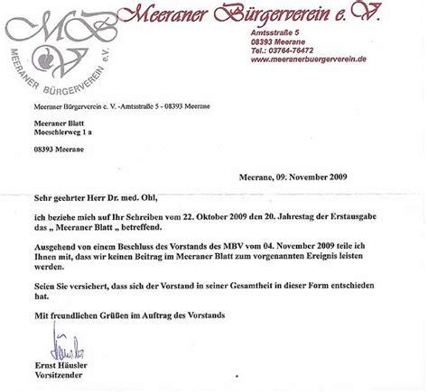 Mit Freundlichen Grüßen Der Vorstand Meeraner Blatt Ausgabe 44 18 11 2009