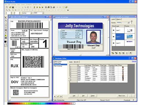 free printable id card maker sreenshot print studio id badge maker software 2e id