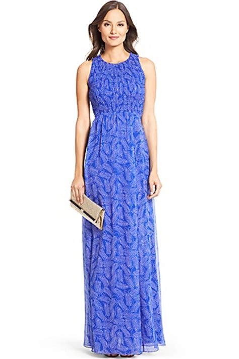 171 234 Dress Bayi Dress Anak dvf nirvana pleated chiffon maxi dress in riviera buds small blue