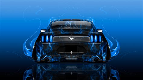 ford mustang muscle back fire abstract car 2015 wallpapers