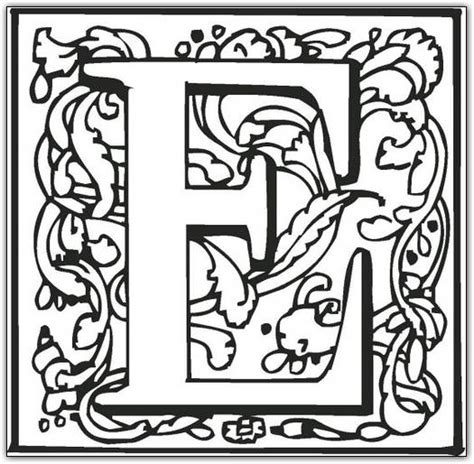 26 Best Alphabet Fancy Block Coloring Pages For Kids Updated 2018 Color In Letter Template