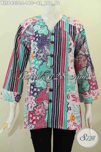 Pakaian Wanita Blus Batik Astri Motif 4 blus batik masa kini untuk kerja dan hangout pakaian bati