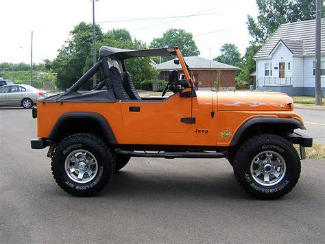 orange jeep cj 1985 jeep cj for sale barn finds canada