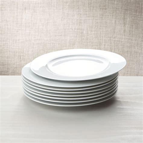 Porcelain Plate white porcelain dinner plates set of 8 reviews crate