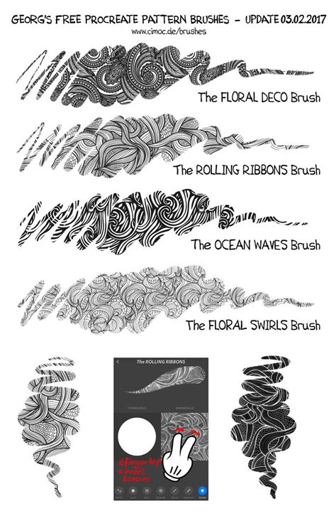 brush with pattern free procreate deco pattern brushes by georgvw on deviantart