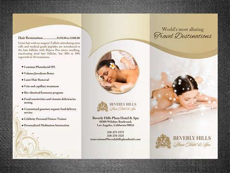 Wedding Spa Brochure by Upmarket Brochure Design For Le Plaza Spa By Hih7
