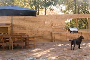 Lowes Room Dividers by Wood Slat Wall With Outdoor Kitchen
