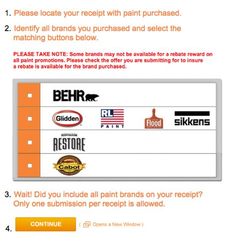 rebate tracking for home depot image mag