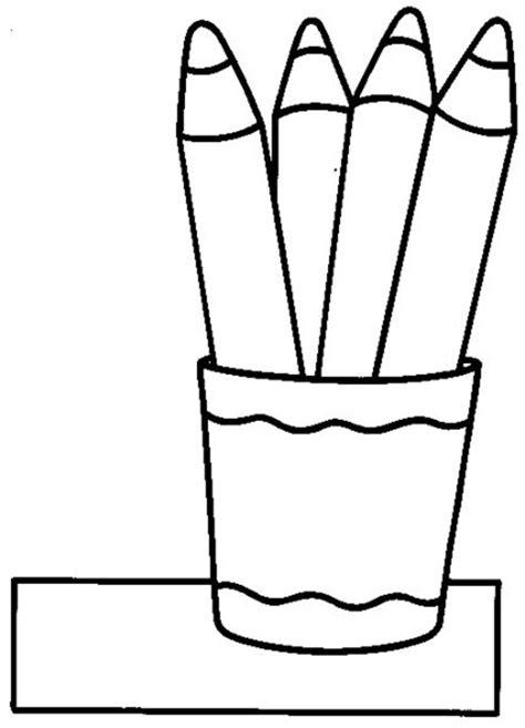 imágenes de útiles escolares para colorear crayones para colorear www pixshark com images