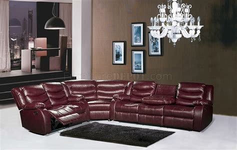 burgundy sectional sofa gramercy 644 motion sectional sofa in burgundy bonded leather