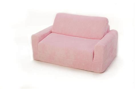 Fun Furnishings 10302 Sofa Sleeper With Pink Chenille Pink Sleeper Sofa