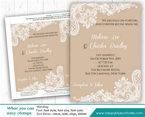 microsoft wedding invitation templates free diy printable wedding invitation template instant