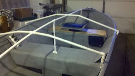 pontoon cover support diy small boat cover support diy