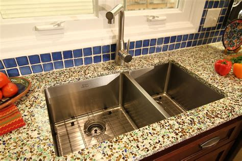 recycled glass kitchen countertops san