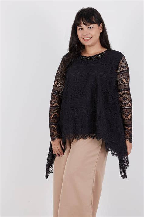 Atasan Tangan Lebar Blouse Cantik Simple Top sell reva lace top black blouse berrybenka