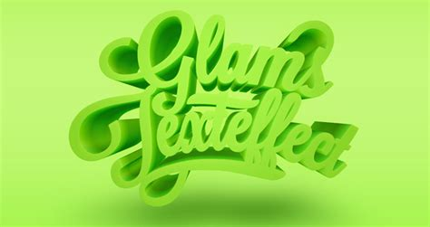 3d text templates for photoshop psd glams text effect photoshop text effects pixeden