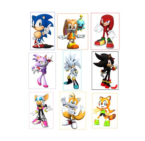 Does Sonic Have Gift Cards - 9 sonic the hedgehog stickers party supplies favors gifts birthday labels