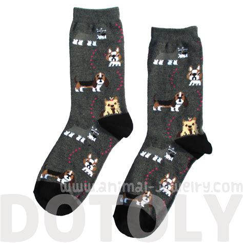Print Socks bulldog cesky terrier basset hound
